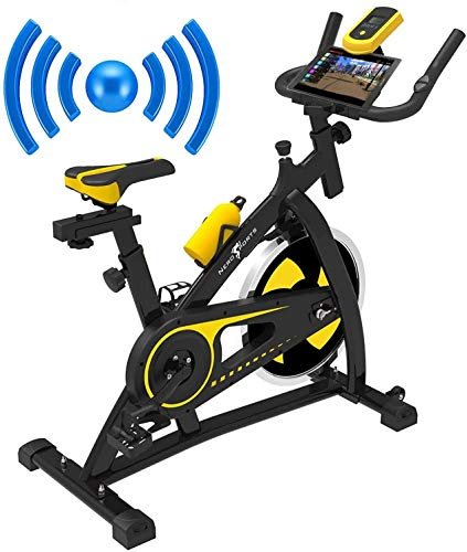 Nero Sports Bluetooth Upright Exercise Bike Indoor Studio Cycles Aerobic Training Fitness Cardio Bike 12kg Spinning Flywheel
