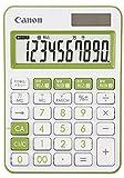 キヤノン カラフル電卓 LS-105WUC-GR 10桁 ミニ卓上サイズ W税機能搭載 抗菌仕様