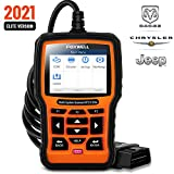 FOXWELL NT510 Elite Bidirectional Scan Tool for Chrysler Dodge Jeep, Full System HVAC 4WD Obd2 Scanner with ABS Auto Bleed Battery Registeration TPMS EPB DPF Service Light Maintenance Functions etc