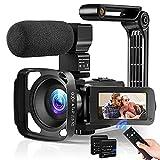Video Camera Camcorder for Vlogging, 36MP YouTube Camera FHD 1080P WiFi Vlog Camera IR Night Vision...