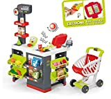 Smoby - 350213 - Supermarket avec Chariot - 42 Accessoires Inclus