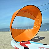 Lixada 42 inch Foldable Kayak Boat Wind Sail Ultralight Summer Surfing Wind Paddle Sail Durable Downwind Paddle Rowing Boats Wind Clear Window