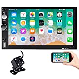 Hikity Double Din Android Car Stereo with GPS 7 Inch Touch Screen Radio Supports FM Bluetooth WiFi...