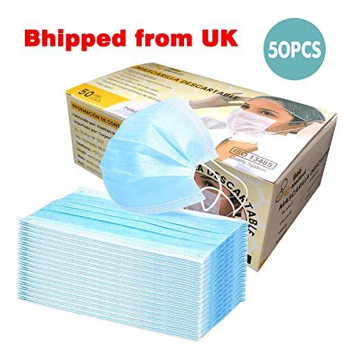Uso chirurgico (50 confezioni) MED-M-A-S-K-S sacchetto sigillato standard-igienico facciale M-A-S-K-S, protezione della salute, estetista-cura-uso medico