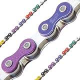 KMC Z510 1-Speed 1/8 112L Bike Chain (Rainbow)