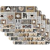Venilia Set de table LOVE IN THE AIR, 45 x 30 cm, 4 pcs,...