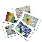 Sea Glass Postcards 2018 Variety Pack. 4x6, 10 Pack, 2 of Each. Unique Birthday Cards. Great Thank You Notes & Invitations. Best Quality Christmas, Mother's Day & Valentine's Day Gifts.