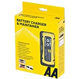 AA 1.5 Amp 6 V/12 V Car Battery Charger Maintainer AA4956 UK Plug Fully Automatic with Crocodile Clamps Eyelet Connectors As Used By AA Patrols