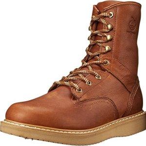 Georgia Boot Men's 8 Inch Wedge Work Shoe, Barracuda Gold, 9 M US