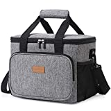 Lifewit Large Lunch Bag 24-Can (15L) Insulated Lunch Box Soft Cooler Cooling Tote for Adult Men Women, Grey