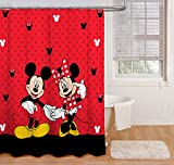 Disney Mickey Mouse and Minnie Mouse 70' x 72' Fabric Shower Curtain