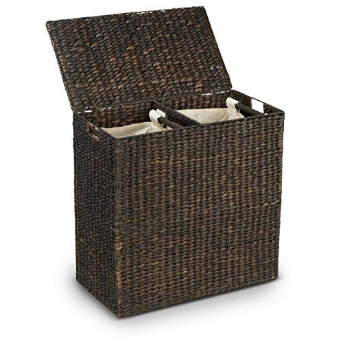 Wäschetruhe ERLA – Wäschesammler – Wäschebox inkl. 2-teiligem Wäschesack aus Baumwolle – 61x33x61 cm (L/B/H) – 120 Liter – Wäschesortierer – Premium Wäschekorb
