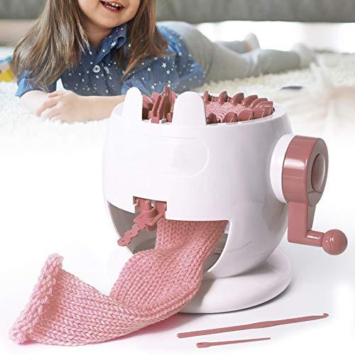 Telaio per tessitura intelligente Telaio rotondo per maglieria, macchina per telaio rotante in plastica, per calzino, cappello, zucca adulti e bambini