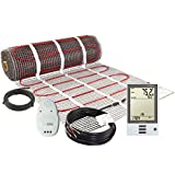 LuxHeat 45 Sqft Mat Kit, 120v Electric Radiant Floor Heating System for Under tile, Stone and Laminate. Kit Includes Alarm, Heated Floor Mat, OJ Microline Programmable Thermostat with GFCI & Sensor