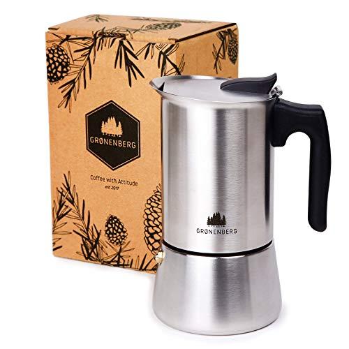 Groenenberg percolator   roestvrij staal   inductie   6 kopjes - 300 ml   Top espresso voor thuis en onderweg   plastic vrije verpakking