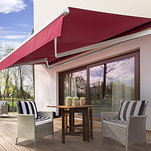 Diensweek Patio Awning Retractable Electric Motorized Commercial...