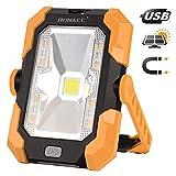 RUNACC Lumière de Camping Projecteur LED Rechargeable Charge solaire Projecteur Chantier 20W 1500LM Lampe de...