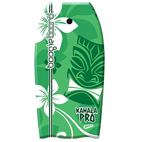Wham-O Body Board Kahala 36' Water Boogie Body Board Kahala Pro 36' Lightweight Bodyboard with EPS Core, Slick Bottom, Premium Leash, Adjustable Wrist Rope (1 Count, Green)