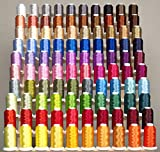 Premium 100 Cones (1100 Yards Each) of Polyester Machine Embroidery Threads Compatible with Brother Babylock Janome Singer Pfaff Husqvarna Bernina Machines