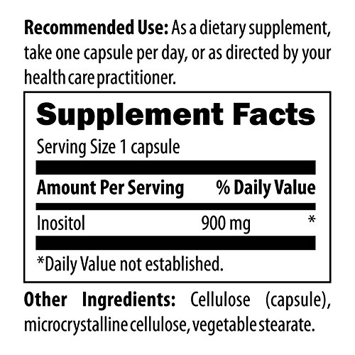 Designs for Health Inositol 900mg - Promotes Restful Sleep - Helps Support Hormonal Health for Women - Non-GMO Inositol Supplement (120 Capsules) 6