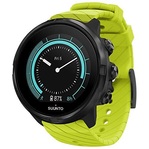 Suunto 9 GPS-Sportuhr mit langer Batterielaufzeit und Herzfrequenzmessung am Handgelenk, Grün, SS050144000