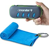 4Monster Microfiber Towel, Travel Towel, Camping Towel,Large Size 26.7 x 55.1¡±, Fast Drying, Soft Light Weight,Suitable for Gym, Beach, Swimming, Backpacking and More