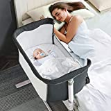 RONBEI Baby Bassinet Bedside Sleeper,Easy to Assemble Bassinets for Baby/Infants