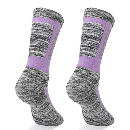 YUEDGE-5-Pairs-Womens-Multi-Performance-Cotton-Cushion-Crew-Sports-Outdoor-Athletic-Walking-Hiking-Socks
