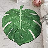 "LIVEBOX Play Mat, Faux Wool Kids Play Area Rugs Green Leaf 35' × 44"" Non-Slip Children Carpet for Living Room Bedroom Decoration Playroom Nursery Best Shower Gift"