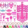 Ecore Fun 62 Pcs Doll Clothes and Accessories Set Includes 2 Fashion Evening Dresses 2 Fashion Skirts 10 Mini Dresses 48 Doll Accessories Perfect for 11.5 inch Dolls #3
