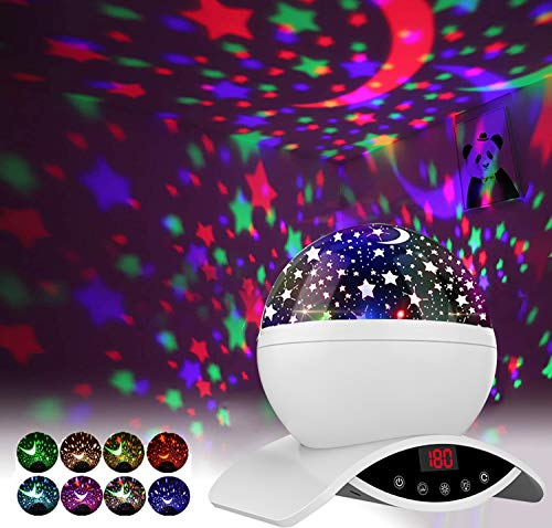 Homcasito Night Light for Kids Star Projector Christmas...