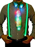 Blulu Ensembles d'Accessoire de Costume Comprenant LED Y Bretelles...
