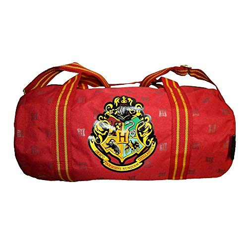 Harry Potter Hogwarts Crest Burgundy School Sports Duffel Bag (01716)