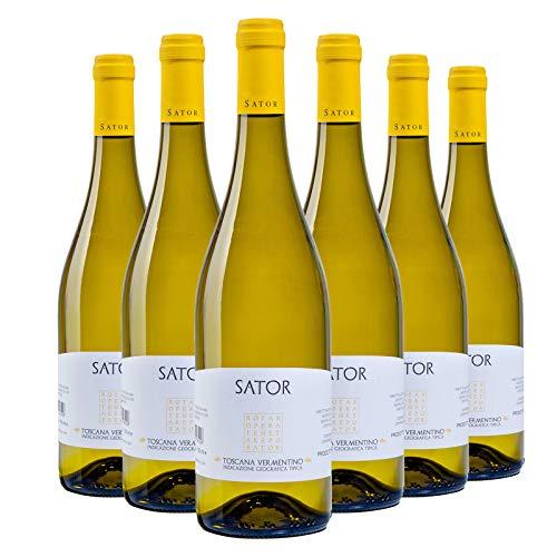 Vino Bianco Toscana IGT Vermentino 2020 - Sator - Box 6 Bottiglie 0,75 L