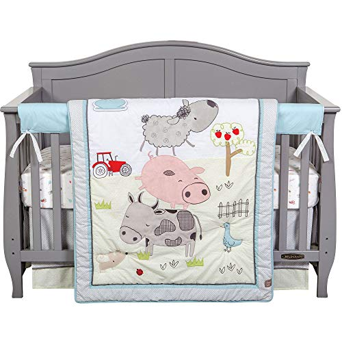 Farm Stack 4 Piece Baby Crib Bedding Set