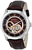 Bulova Classic Automatic Men's Stainless Steel with Brown Leather Strap, Silver-Tone (Model: 96A120)
