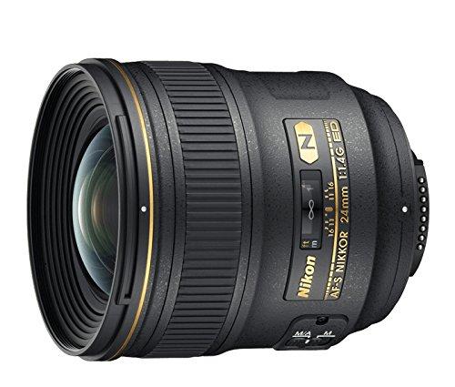 Nikon AF-S NIKKOR 24mm f/1.4G ED Negro - Objetivo (12/10, 0,25 m, Automático/Manual, 2,4 cm,...