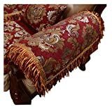 Sideli Luxury Chenille Jacquard Armrest Cover For Chair Couch Sofa...