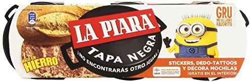 La Piara Tapa Negra Paté de Hígado de Cerdo, 3 x 75g