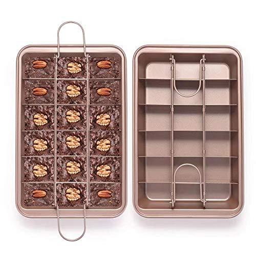 EKKONG Moldes para Brownies, Molde para Tartas con separador