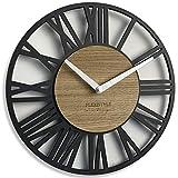 FLEXISTYLE Horloge Murale Noir (comme Anthracite) 30 cm