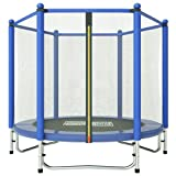 Fashionsport OUTFITTERS Trampoline for Kids Trampoline with Safety Enclosure -Indoor Outdoor Use Trampoline for Kids-Blue-5FT