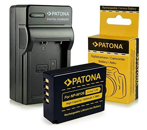 Caricabatteria + Batteria NP-W126 per FujiFilm FinePix X-Pro 1 | HS30 EXR | HS30EXR | HS-30EXR | HS33 EXR | HS33EXR | HS-33EXR | HS50EXR | X-E1 | X-M1