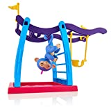 WowWee Fingerlings Playset - Monkey Bar Playground + Liv The Baby Monkey (Blue with Pink Hair) (Toy)