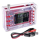 STARTO Pocket-Size Digital Oscilloscope Kit 2.4' TFT 1Msps Open Source with Protective Case and Probe, Welded Version (Case Needs to be Assembled), Red