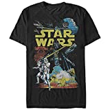 Star Wars Men's Rebel Classic Graphic T-Shirt, Black, 3XL