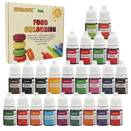 Colorante alimentario 24*6ml, Colorante Alimentario Alta Con