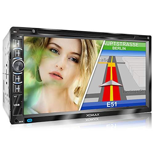 XOMAX XM-2DN6906 Autoradio mit Mirrorlink I GPS Navigation I Navi Software...