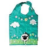 Eco Friendly Reusable Foldable Shopping Bag (Design: Sheep)