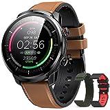 Hommie Montre Connectée Homme Smartwatch Sport Etanche IP68 Bracelet Connecté Tensiomètre Cardiofréquencemètre Podomètre Fitness Tracker d'Activité avec 3 Sangles pour iPhone Samsung Huawei